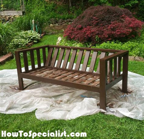 how to build an outdoor sofa diy wood outdoor sofa howtospecialist how to build