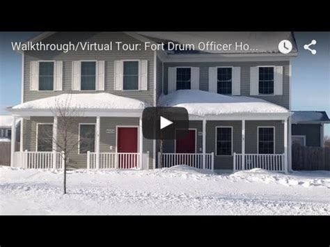 Fort Drum Housing by Walkthrough Tour Fort Drum Officer Housing In
