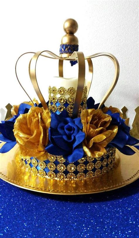 New Royal Prince Baby Shower Crown Centerpiece Boys Royal Baby Shower Centerpieces