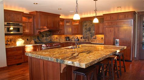 granite with cherry cabinets in kitchens upscale kitchens cherry wood cabinets with granite