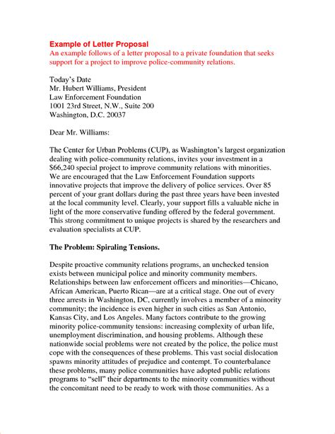 8 exle of a proposal letter procedure template sle