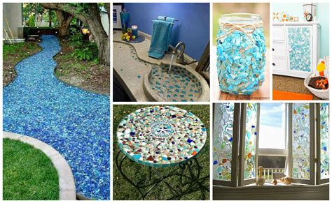 17 creative diy home decorations with colored glass and