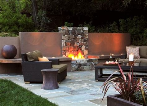 Outdoor Patio With Fireplace by Outdoor Fireplace Surrounds And Fireplace Designs