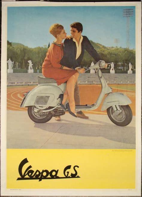 Vespa Vintage Poster vespa g s original vintage poster 1960s tod