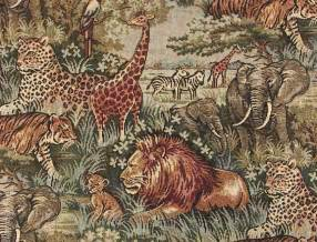 Wholesale Drapery Fabric African Safari Wild Animals Fabric
