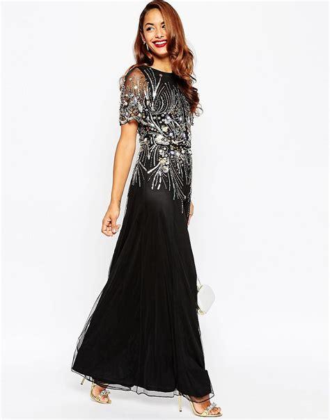 Golden Maxy 4 asos carpet gold and black sparkle mesh maxi dress uk