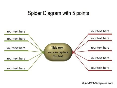 spider diagram template powerpoint powerpoint comparisons templates showing opposite