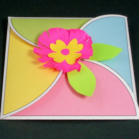 flower envelope card template petal envelope template 5 215 7 5 215 5 square envelope template