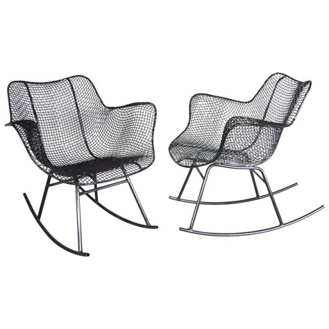 Wrought Iron Rocking Chair by Pair Of Woodard Wrought Iron Rocking Chairs At 1stdibs