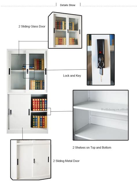 sliding door display cabinet high quality customized sliding glass door display cabinet