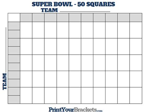 2015 super bowl 50 squares pool template autos post