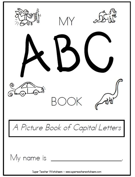 printable alphabet book template 6 best images of printable abc coloring book cover abc