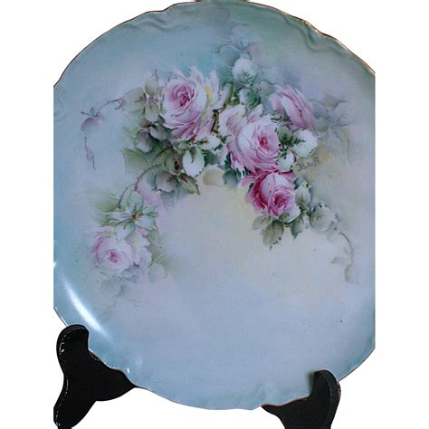 hand painted l shades haviland france hand painted plate signed b l b shades of