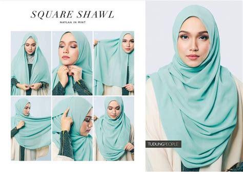 Tutorial Hijab Menurut Al Quran | square shawl hijab tutorial fashion style pinterest