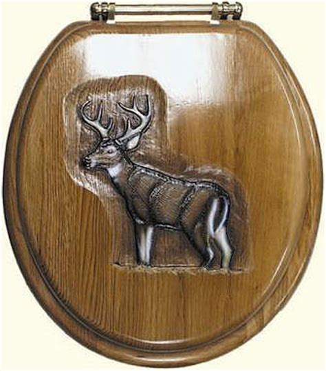 whitetail deer bathroom accessories whitetail deer hand carved hand painted toilet seat