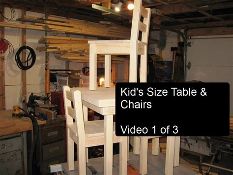 diy kids table and chairs diy kid s size table and chairs part 1 of 3 youtube