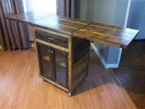 diy kitchen cart diy pallet kitchen cart with drop leaves casters 101