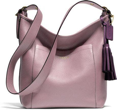 Coach Mini Duffle Purple small handbags coach duffle in polished pebble leather