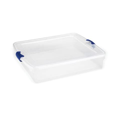 under the bed storage containers sterilite 6 qt storage box in white and clear plastic