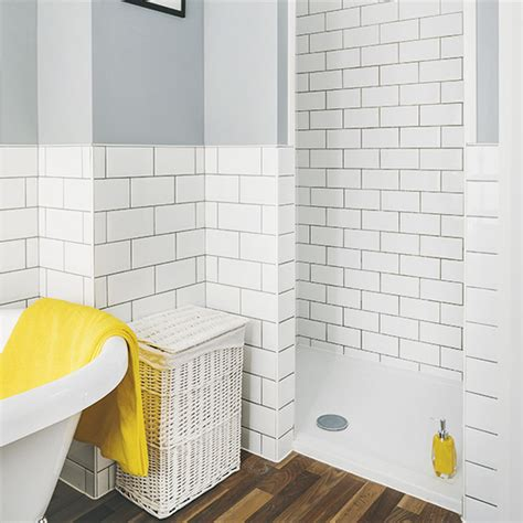 Bathroom Shower Walls Uk Modern Shower Room With Metro Tiles And Grey Walls Ideal