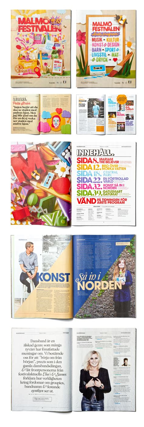 yearbook layout behance malm 246 festival 2013 on behance