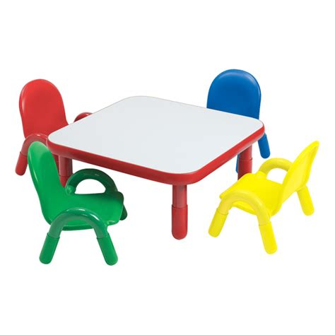 angeles corporation baseline toddler table chair set  school outfitters