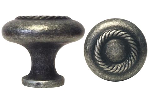 Antique Pewter Knobs by Antique Pewter Rope Knob 117 32