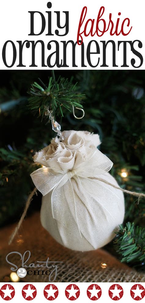 diy christmas ornament easy fabric balls shanty 2 chic
