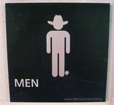 cowboy bathroom signs dave rat roadies in the midst entries from monday