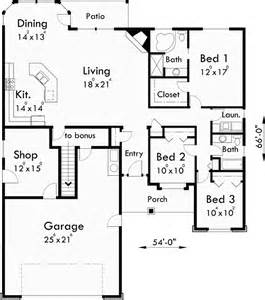 Ranch Floor Plans With Bonus Room by One Story House Plans House Plans With Bonus Room Over