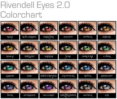 what color are my chart fashions to rivendell we go