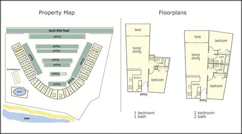 Condo Layout by Menehune Shores Map