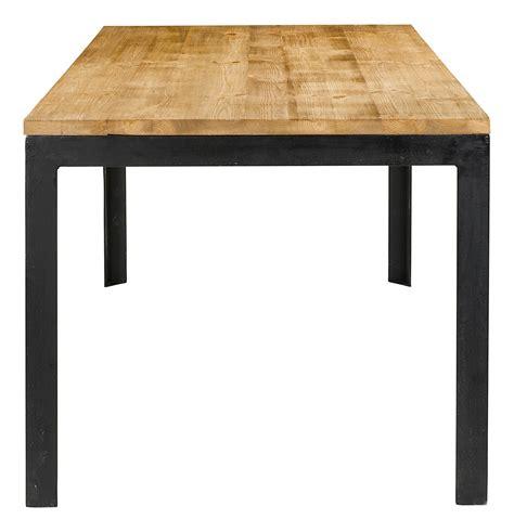 table de en bois table repas 180 cm en bois et pieds metal city grenier alpin