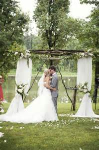 Decorated Wedding Arbors Outdoor Wedding Ceremony Arch