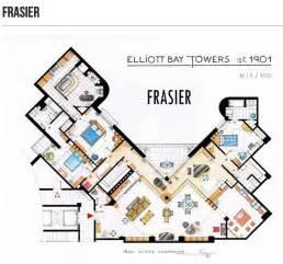 frasier apartment floor plan cinema style floor plans of the fictitious