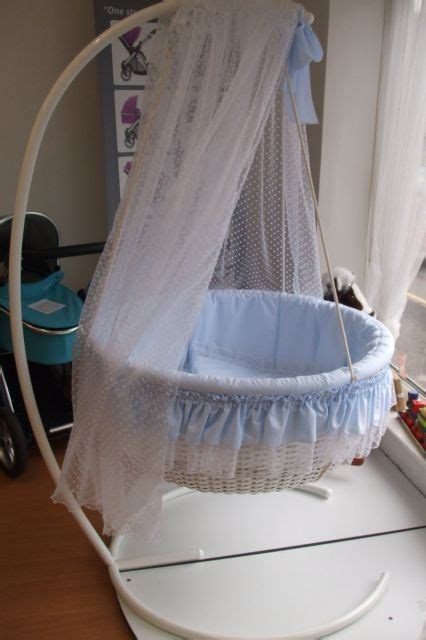 swinging crib drapes new leipold round swinging crib complete with stand and