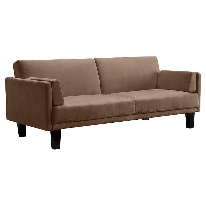 target couch bed metro futon sofa bed tan target