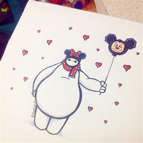 doodle vs drawing this instagram artist drew baymax from big 6 in