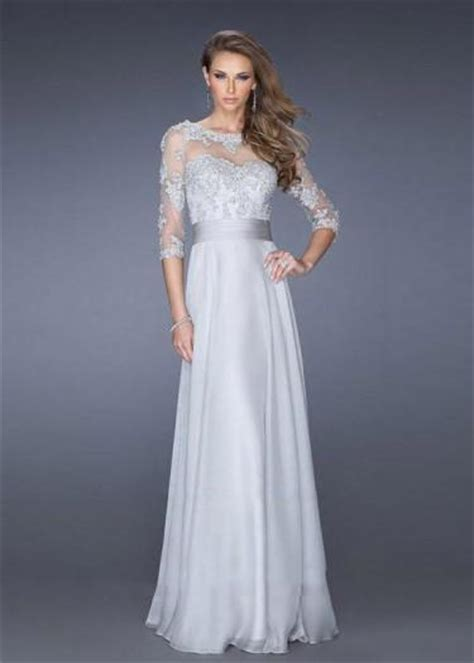 la femme 20650 illusion hi neck formal dress french novelty fashion cheap 2015 gray sheer high illusion neck lace half