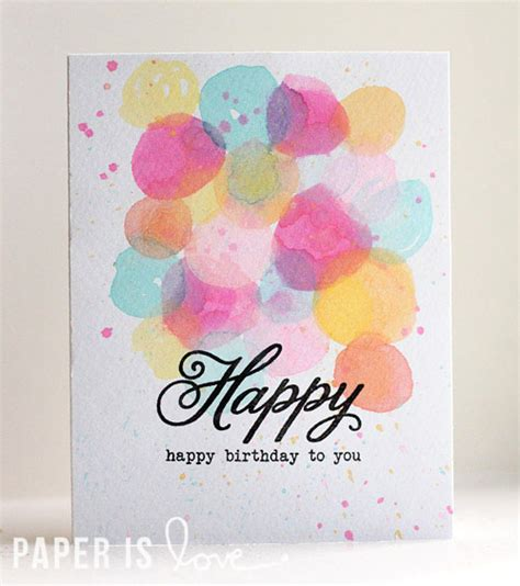 Birthday Card Watercolor Watercolor Birthday Card Paper Is Love