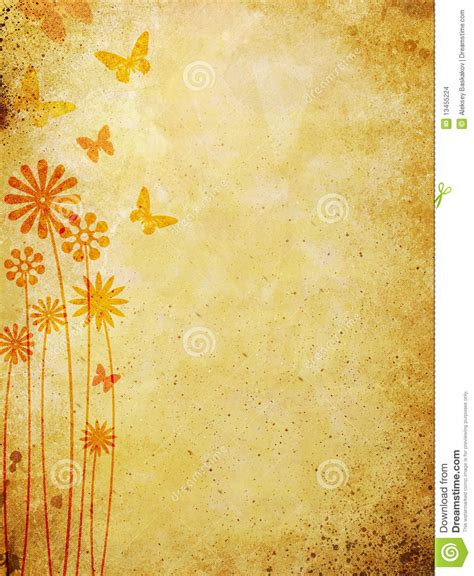 Pattern Over Background | floral pattern over old wall background stock illustration