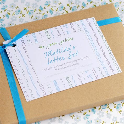 personalised doodles letter writing set by the green