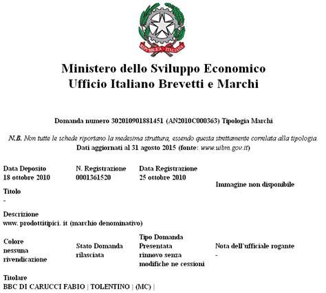 ufficio brevetti italiano chi siamo prodotti tipici