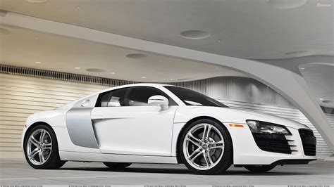 white audi r8 side pose of audi r8 in white wallpaper