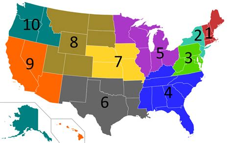 map of the 5 regions of the united states file regions of the united states epa svg wikimedia commons