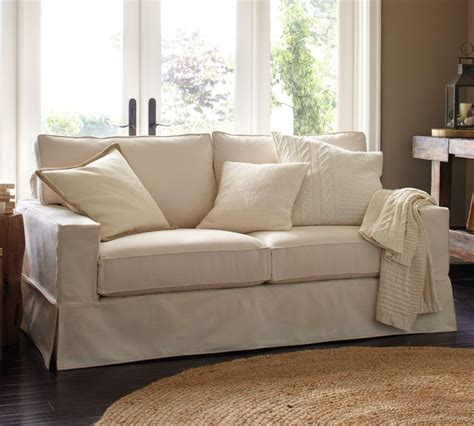 pottery barn comfort sectional pb comfort square slipcovered sofa ivory 196 cm