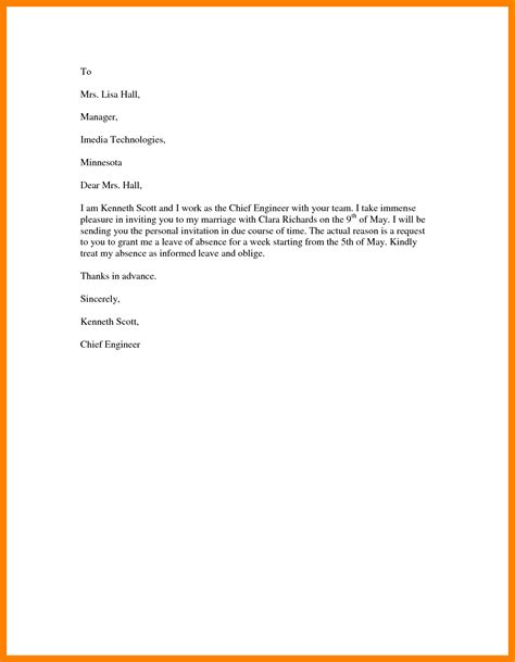 Request Letter Format For Leave 9 Letter Of Leave Request Janitor Resume