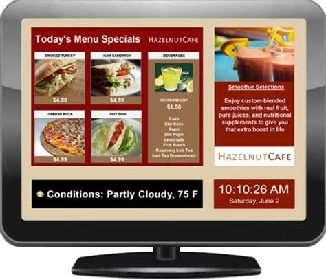 restaurant menu layout software digital menu boards electronic menus and software