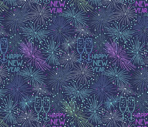 new year celebrations fabric pixabo spoonflower