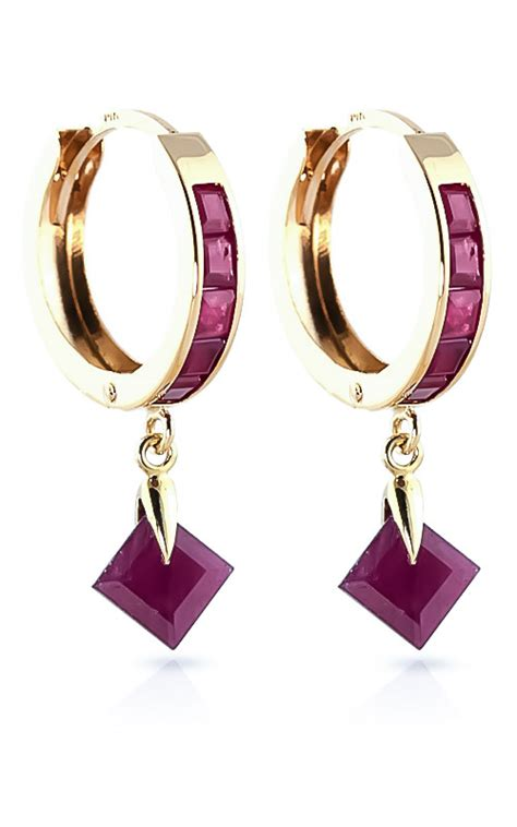 Ruby 3 9ct ruby earrings 3 7ctw in 9ct gold jewelry for